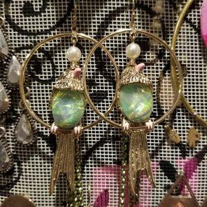 Wanna Hang? - Fun Bird Earrings